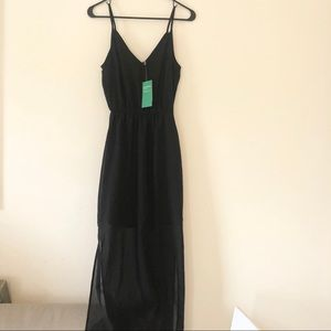 H&M sheer vneck maxi dress